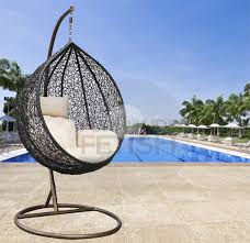 outdoor hanging furniture. Hanging Egg Chair Cream Cushion Outdoor Furniture I