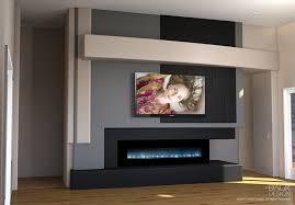 modern media wall design trending choice dagr drywall built in electric fireplace custom media