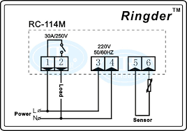 ringder rc 114m 230v 30a 30~300°c cool heat onoff switch universal rc 114m 220v30a wiring diagram