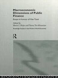finance essays macroeconomic dimensions of public finance essays in honour of vito tanzi