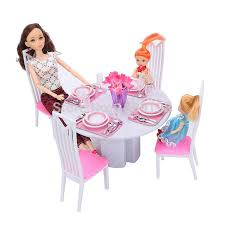 barbie doll house furniture. Doll House Furniture/(94011) Dining Room Play Set For Barbie Furniture D
