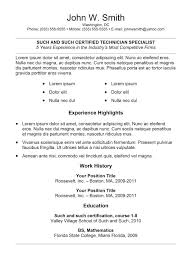 Copy And Paste Resume Templates For Word Cover Letter Basic Template