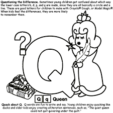 These super cute, free alphabet coloring pages are a fun way for toddler, preschool, pre k, and kindergarten age kids to work on learning the sounds letters make, practice listening for beginning sounds, and learning vocabulary while strengthening fine motor skills and having fun. Alphabet Q Coloring Page Crayola Com