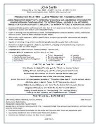 Production Assistant Resume Inspiration 8514 A Resume Template For Production Assistant You Can Download It And