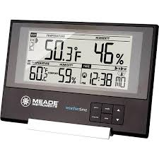 sharp weather station. get quotations · meade te256w slim line weather station with atomic clock and remote wireless sensor sharp