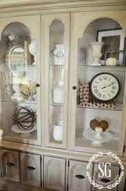 Best 25+ China Cabinet Decor Ideas On Pinterest | Hutch Makeover throughout  How To Decorate