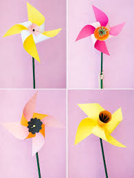 Paper Flower Pinwheels Diy Pinwheels You Can Make Together With Your Kids