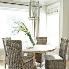 dining room furniture ideas. Round Salvaged Wood Dining Table With Wicker Chairs Room Furniture Ideas D
