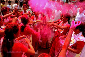 holi in assam northeast review women play holi colours as they sing traditional holi geet