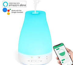 google home and office. Essential Oil Diffuser WiFi Smart Humidifier Compatible With Alexa, Google Home And APP, RENPHO 120ml Ultrasonic Aromatherapy For Office, Office