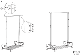 Ikea Instruction Manuals Ikea Accessories Portis Clothes Rack Pdf Assembly Instruction Free