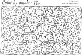 Free Printable Hard Color By Number Coloring Pages Free Printable