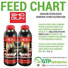 Details About Shogun Samurai Hydro Bloom A B 1l 5l Litres Hard Water 2 Part Fertilisers
