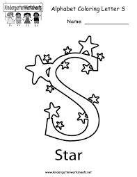 Letter S Worksheets For Preschool Kindergarten Printable Trac ~ Koogra