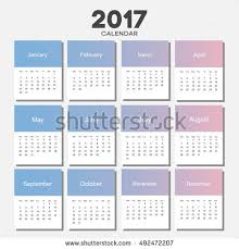 Small Picture February 2017 Calendar Sheet Gradient Background Stock Vector
