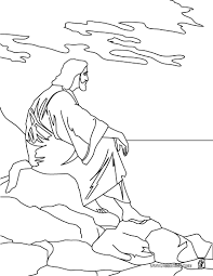 Jesus and the mount of olives coloring pages - Hellokids.com