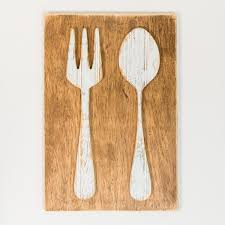 on metal knife fork spoon wall art with large spoon and fork wall decor wayfair