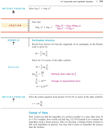 3 log e e solve for e in terms of the other symbols m 3 log