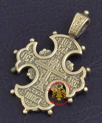 handmade sterling silver 925 cross pendant inspired by the russian orthodox era