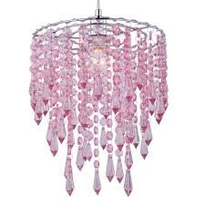 colours agassiz pink beaded pendant light shade d 25cm departments diy at