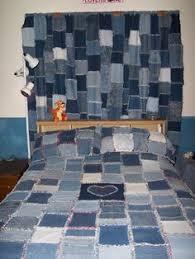 blaue Taschen Denim Jeans Dusche Vorhang Badezimmer Dekor Stoff ... & Denim rag quilt, pillow shams and curtains that my husband and I made for  our Adamdwight.com