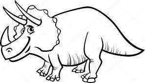 Triceratops Dinosaurus Kleurplaat Stockvector Izakowski 43254999