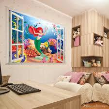 Little Mermaid Bedroom Decor 2015 Hot Mermaid Ariel Wall Sticker Vinyl Art Decals Kids Nursery