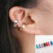 <b>Hot 1Pair</b> Women Men Titanium Steel Non-<b>Piercing</b> Clip Ear Stud ...