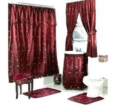 shower curtain with valance tie back shower curtains with valance and tiebacks ruffled double swag shower