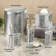 bathroom accessories sets silver. Bathroom: Mesmerizing Just Roses Silver Bath Accessories At Bathroom From Sets S