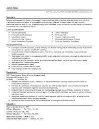 Stunning Army Logistics Resume Examples Contemporary Entry Level