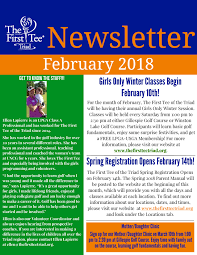 News Letters February 2018 Newsletter Final The First Tee Of The Triad