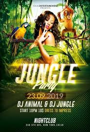 Green Party Flyer Jungle Party Flyer Templates Psd