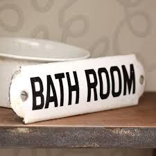 antique bathroom sign for the home bath