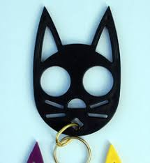 By being able to slip it safely inside your wallet or kit bag. Credit Card Knife And Kitty Keychain For Self Defence Manufacturer Prash Self Defence Products Thane
