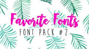favorite fonts script cursive font pack 2