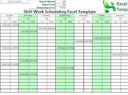 6 Week Work Schedule Template Employee Monthly Schedule Template Awesome Download Daily Work Excel