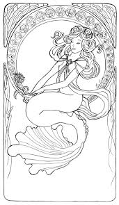 Coloring Pages Of Mermaids For Kids Realistic With Mermaid Coloring