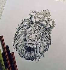 Tattoo эскиз тату лев с короной