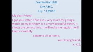Write A Letter To Your Friend Thanking For Birthday Gift
