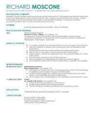 Dental Assist Resume For Dental Assistant Cute Resume Objective