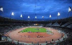 Behang Stadion Atletiek Het Publiek De Olympische Spelen Van 2012