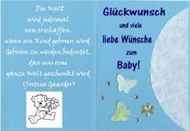 Glückwunschkarte Zur Geburt Basteln