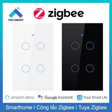 Công tắc thông minh ZIGBEE Tuya Smart Life 1-2-3-4 nút cảm ứng - Phiên bản  Zigbee mặt kính tại Hà Nội