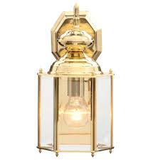 progress lighting brass guard collection 7 inch polished brass outdoor wall lantern