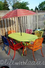 wrought iron patio set rustoleum spray paints painted patio furniturepatio