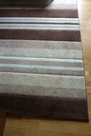 brown cream beige stripes high quality rug in very good condition 180cm x 270cm