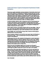 outline and evaluate two or more explanations of the development teacher marked outline and evaluate 2 cognitive developmental explanations of gender