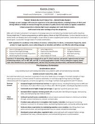 Advertising Agency Resume Examples Free Resume Example And
