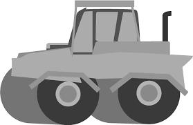 ロードローラーの無料イラスト 道路を作る車の素材 チコデザ